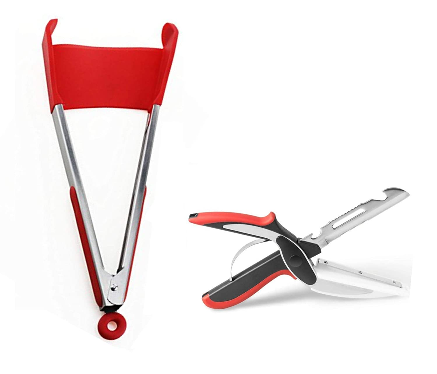 2-in-1 Spatula Tongs (BBQ and Grill
