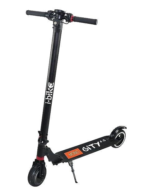 i-Bike, Mono City 6.5 B330 Aluminio Unisex – Adulto, Negro, 104 x 20 x 28