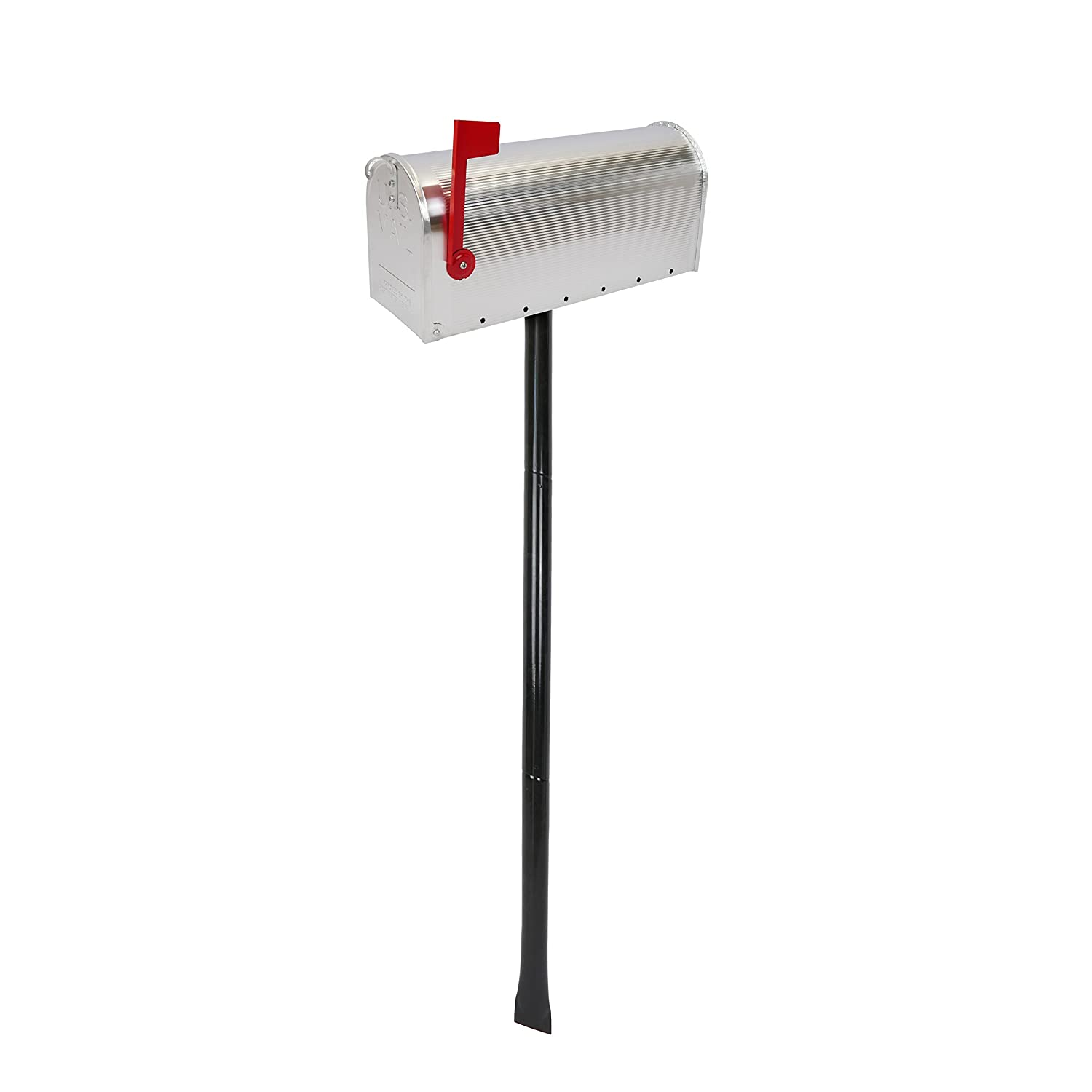 Cablematic  –   US Mail Mailbox Stand, Aluminium, for Design Postcard American) Color Silver PN26051618200173657