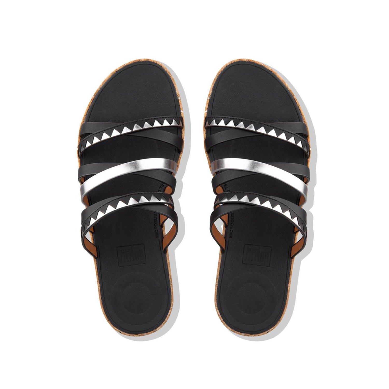 1955a4d9 Fitflop Women's Linny Tm Slide Sandals Zigzag Mirror Open Toe:  Amazon.co.uk: Shoes & Bags