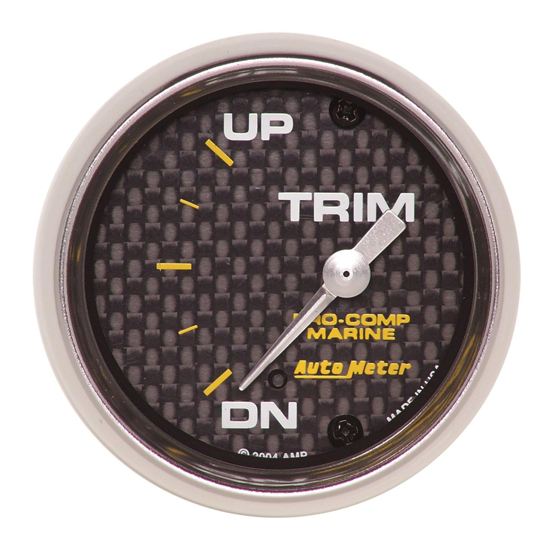 Auto Meter AutoMeter 200766-40 Gauge, Trim Level, 2 1/16'', 0Ωdown-90Ωup, Electric, Marine Carbon Fiber by Auto Meter