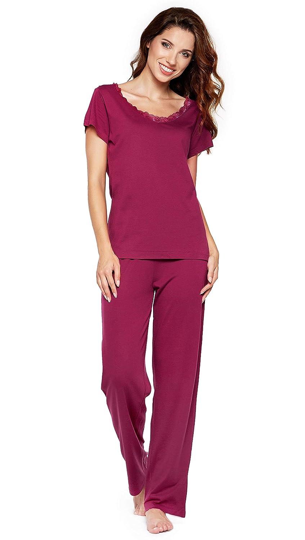 934d4300b10712 ... Moonline Moderner und Bequemer Damen Pyjama/Shorty / Capri Schlafanzug,  mit Weicher Baumwolle, ...