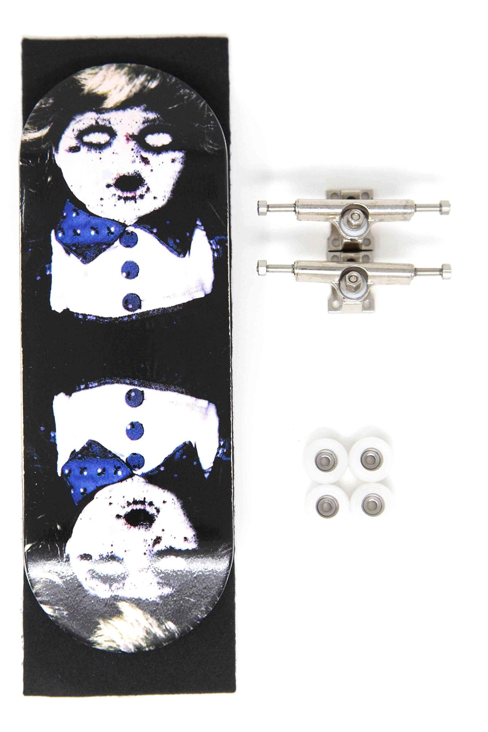 Skull Fingerboards Twins 34mm Complete Professional Wooden Fingerboard Mini Skateboard 5 PLY with CNC Bearing Wheels