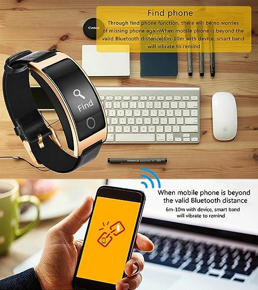 Reloj deportivo, ZIMINGU® CK11S Pulsera Inteligente Bluetooth con Presión Arterial Monitor de Frecuencia Cardíaca Resistente al Agua Tracker Smart Band para ...