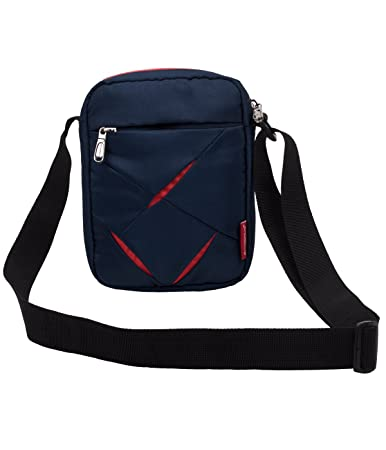 a8b88b77104 Buy COSMUS Polyester Navy Blue and Red Sling Bag for Men Online at ...