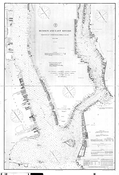 Map Of New York Rivers.Amazon Com Vintography C 1890 18 X 24 Reproduction Old Map Chart