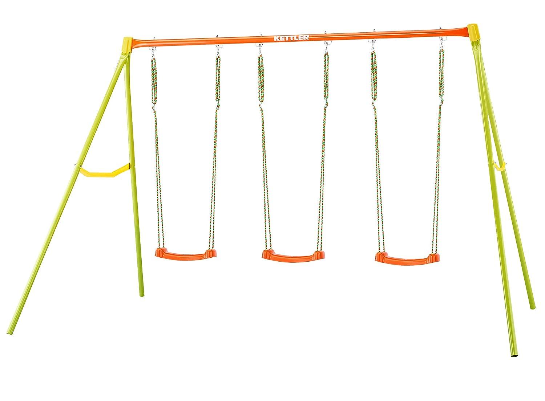 sin mínimo Balancín para 2 2 2 + góndola + columpio Columpio Infantil de jardín Kettler – Color  Naranja y verde – con uno, Dos o Tres Asientos – Calidad Made in Germany  los clientes primero