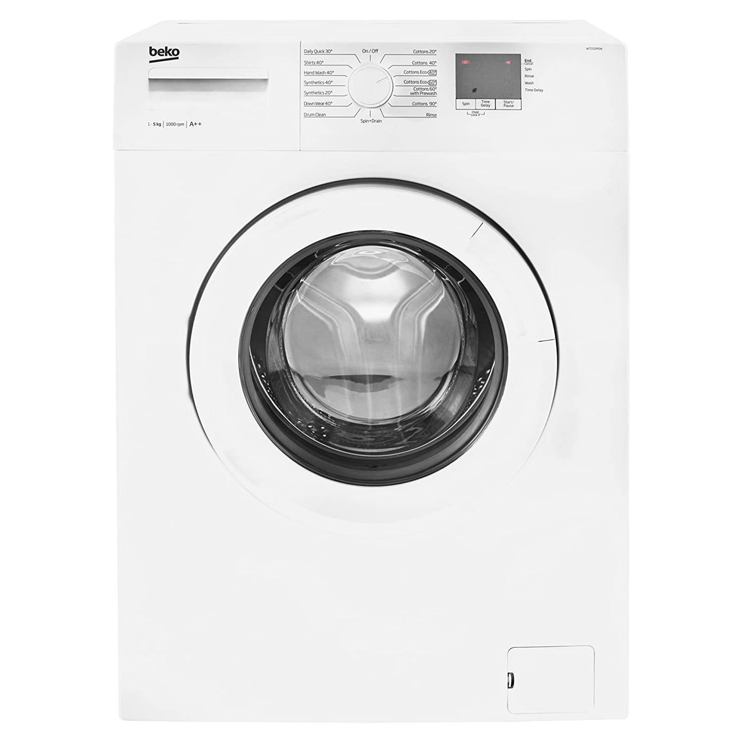 Beko WTG50M1W Freestanding A++ Rated Washing Machine in White