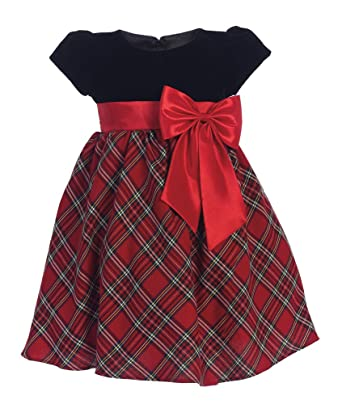 lito childrens wear girls red plaid holiday christmas dress 2t - Girls Plaid Christmas Dress