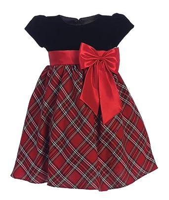 5bb2523b5 Amazon.com: Girls Red Plaid Holiday Christmas Dress: Clothing