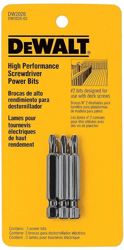 Deck Power Bit Ph#2 3pk - - Amazon.com