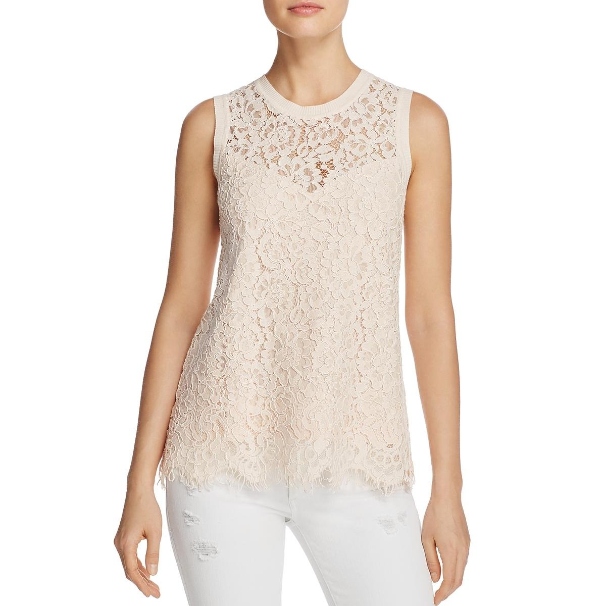 Generation Love Womens Lace Illusion Casual Top SP17113