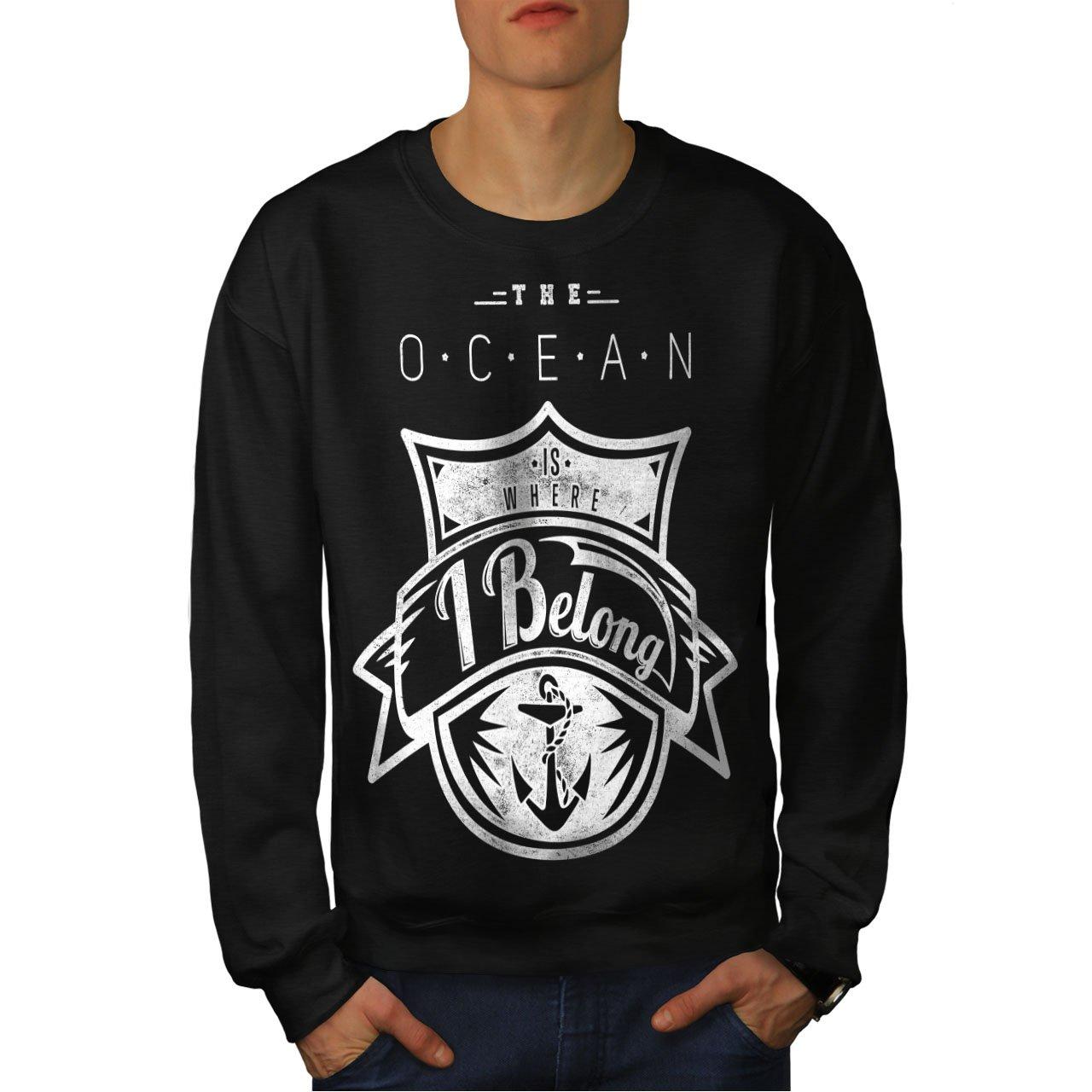 Love Casual Jumper wellcoda The Ocean Belong Vintage Mens Sweatshirt