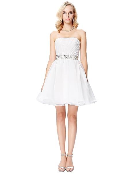 Vestido novia corto amazon