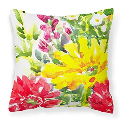 Caroline's Treasures 6136PW1414 Flower Decorative Canvas Fabric Pillow, 14Hx14W, Multicolor : Garden & Outdoor