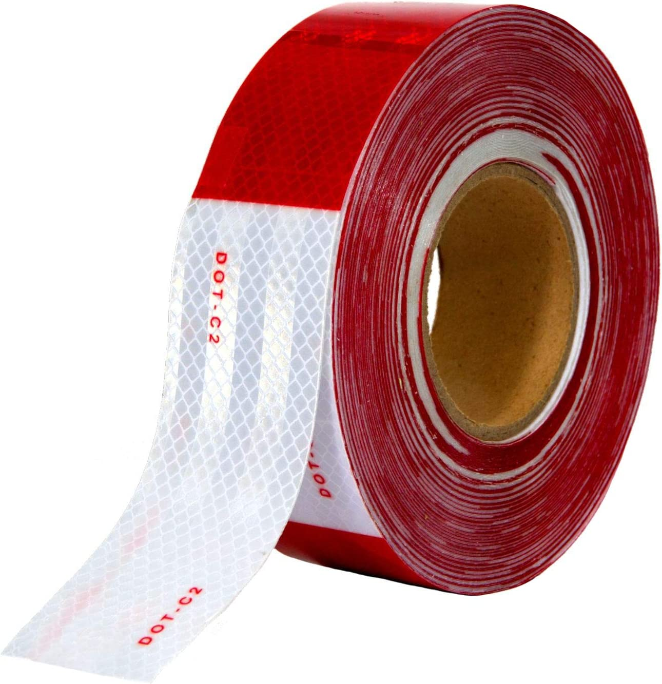 Trucks 5.8 x 2 in ZYHW Red White Reflector Tape for Trailer 20Pcs,Universal Plastic Rectangular Waterproof Warning Plate Reflective Sticker Self-Adhesive for Cars Signs Boats
