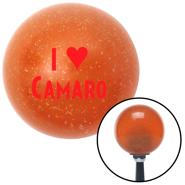 Red I 3 Camaro American Shifter 37816 Orange Metal Flake Shift Knob with 16mm x 1.5mm Insert