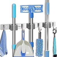 Broom Mop Holder Wall Mount - Tsmine Stainless Steel Wall Mounted Garden Tool Storage Tool Rack Storage & Organization…