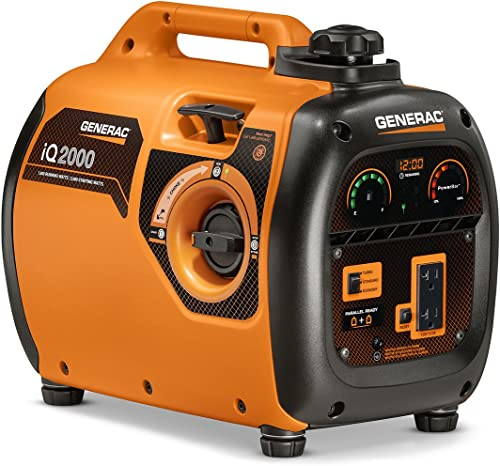 Generac 6866 iQ2000 Super Quiet 1600 Running Watts/2000 Starting Watts Gas Powered Inverter Generator