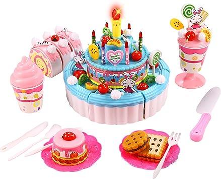 Brilliant Funmily Triple Layer Cake Cutting Toy With Light Happy Birthday Funny Birthday Cards Online Elaedamsfinfo