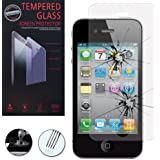 VCOMP® Un Film Vitre Verre Trempé de protection d'écran pour Apple iPhone 4/ 4S/ 4G - TRANSPARENT