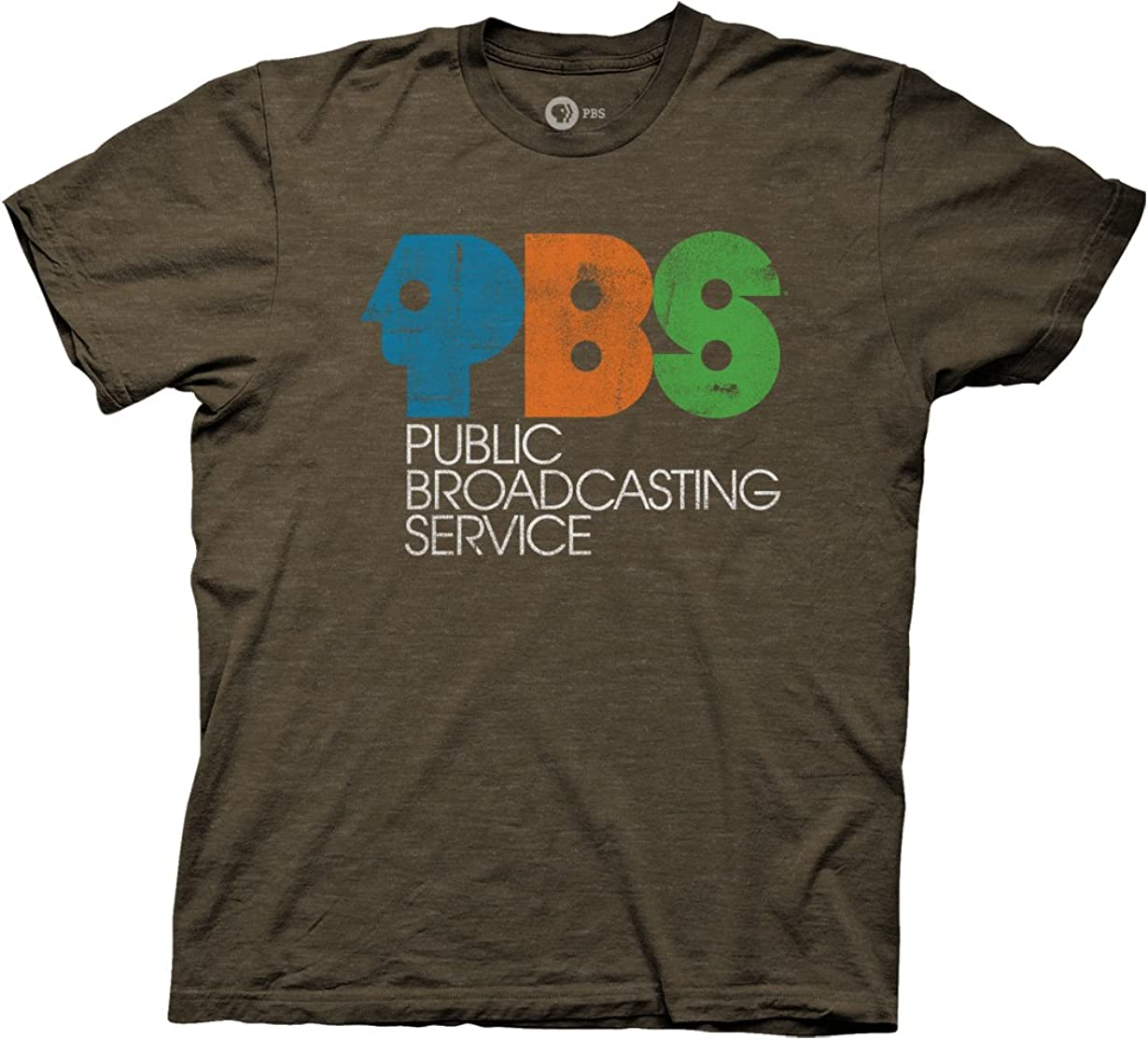 Ripple Junction PBS Vintage Logo Distressed Adult T-Shirt