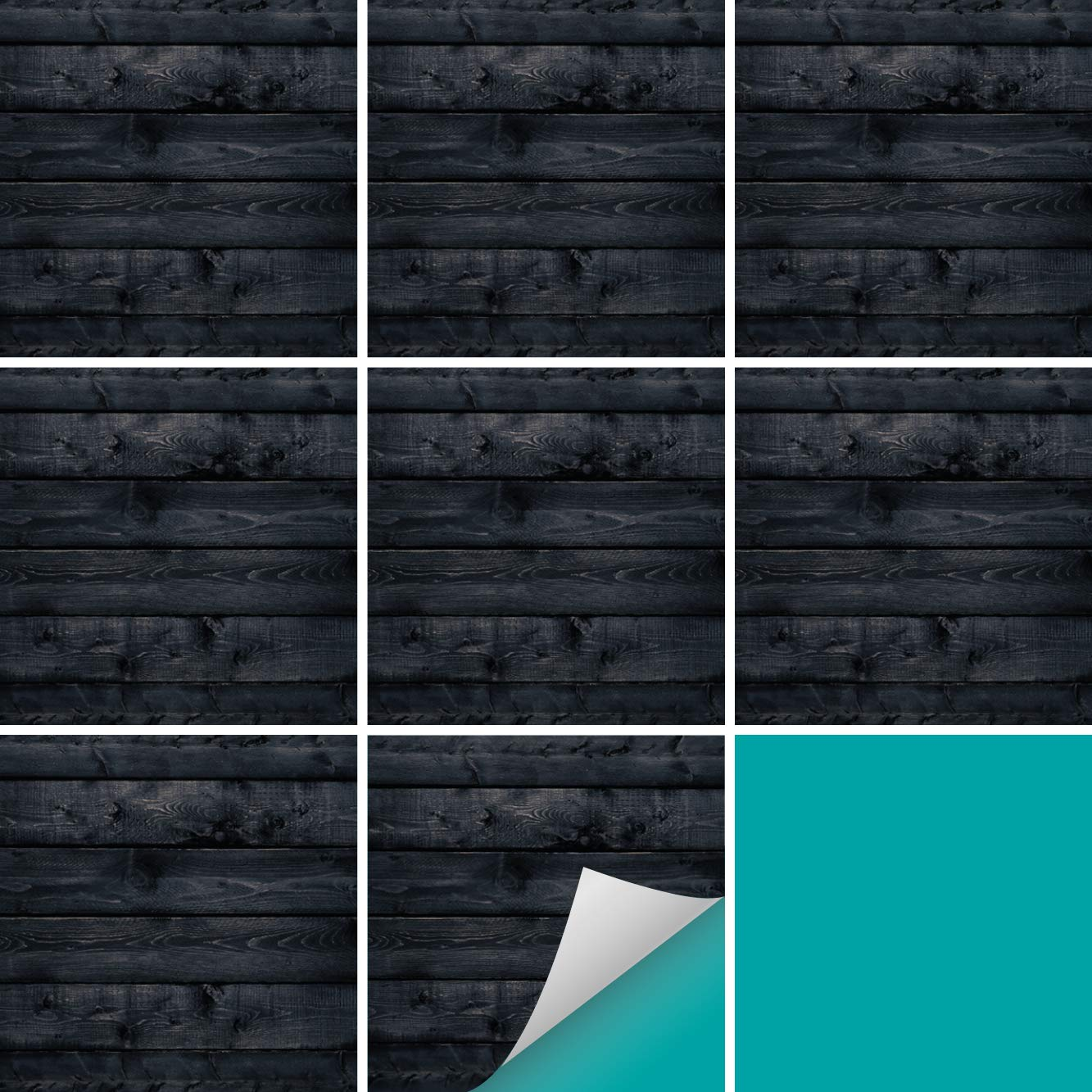 PrintYourHome PrintYourHome PrintYourHome Fliesenaufkleber für Küche und Bad   Dekor Marmor Weiß Schwarz   Fliesenfolie für 15x15cm Fliesen   152 Stück   Klebefliesen günstig in 1A Qualität B07GT1612R Fliesenaufkleber 1ef105