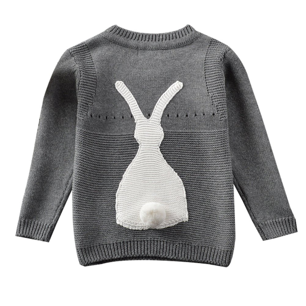 Toddler Baby Boy Girl Knit Sweater Cute Bunny Unisex Kid Pullover Sweatshirt LZ-TZ-130