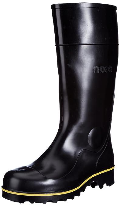 Nora Jan 72057 - Botas de agua unisex, color negro, talla 36