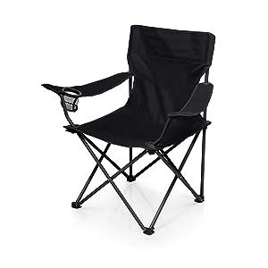 ONIVA - a Picnic Time Brand PTZ Portable Folding Camp Chair, Black