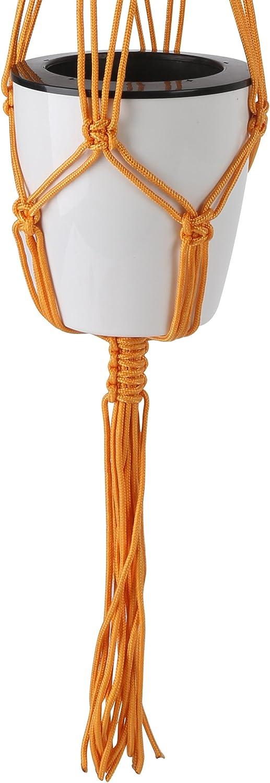4 Pack 39 Inches 4 Legs Indoor Outdoor Nylon Hanging Basket Plant Hanger blue