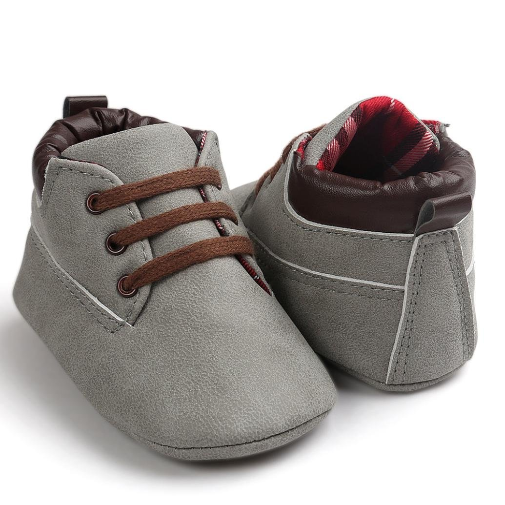 LNGRY Baby Toddler Shoes Soft Sole Leather Shoes Infant Boy Girl Anti-Slip Shoes