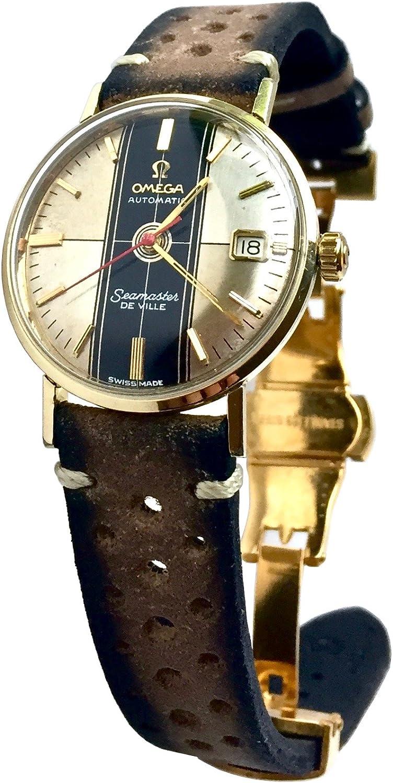 Vintage 1963 Omega de Ville quadrante orologio (argento) con