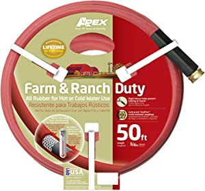 Apex, 969RR-50, Farm and Ranch Water Hose, 3/4 Inch by 50 Feet