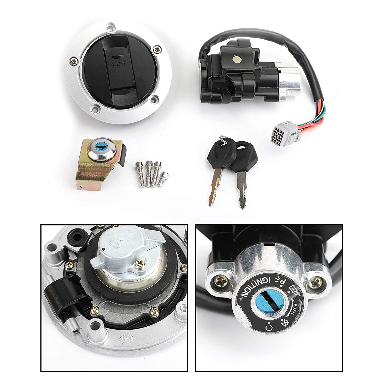 NOME llave de bloqueo de tapa de combustible para interruptor de encendido para Su-zuki GSF 650 1200 1250 Bandit 05-12