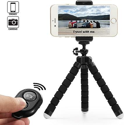 Dezuo Trípode de aluminio para cámara de fotos o smartphone, con ...