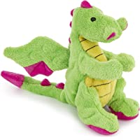 goDog 70640-98977-024 Dragons Plush Squeaker Dog Toy, Small, 1 Count, Bright Green