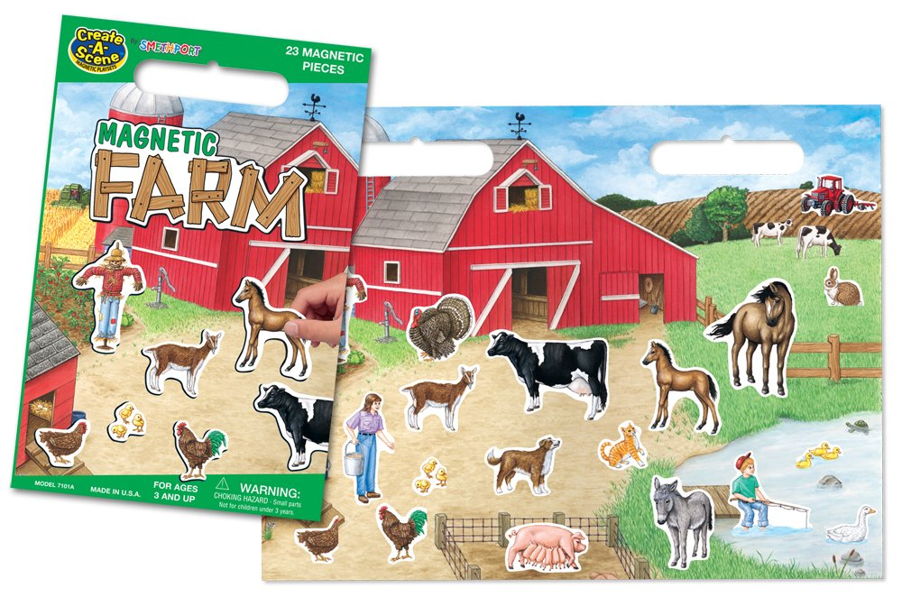 Create-A-Scene Magnetic Playset - Farm by PlayMonster
