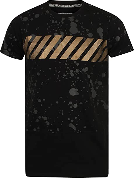 Tampered Apparels Men's Crew Neck Cotton Fuzz Printed T Shirt,Casual T Shirts for Men, Men's T Shirt,Half Sleeves Long Line T Shirt for Men, Cotton