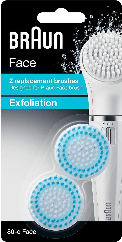 Braun 80-E Set de 2 Recambios para Cepillo Facial Exfoliante para ...