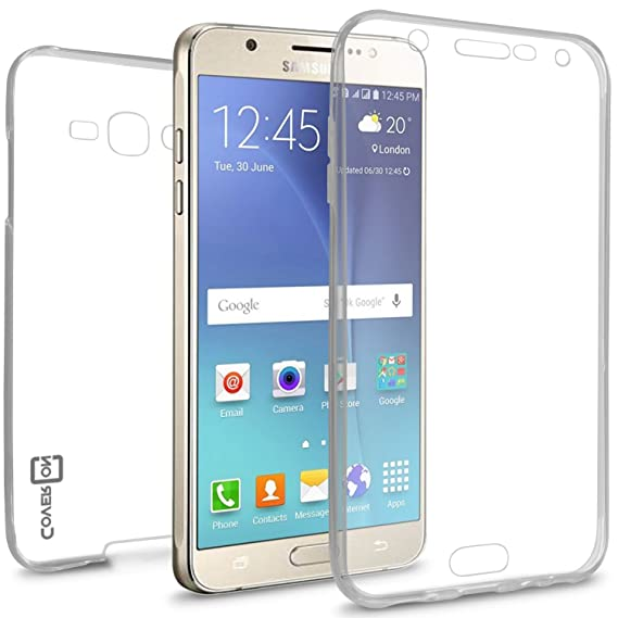 low priced e98ba 764c8 Galaxy J7 Clear Case (2016) J710, CoverON [WrapGuard Series] Full Body Two  Piece Ultra Slim Fit Protective Clear TPU Cover Phone Case for Samsung ...