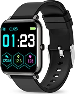 Smart Watch, KALINCO Fitness Tracker with Heart Rate Monitor, Blood Pressure, Blood Oxygen Tracking, 1.4 Inch Touch Screen Smartwatch Fitness Watch for Women Men Compatible with Android iPhone iOS