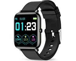 Smart Watch, KALINCO Fitness Tracker with Heart Rate Monitor, Blood Pressure, Blood Oxygen Tracking, 1.4 Inch Touch Screen Sm