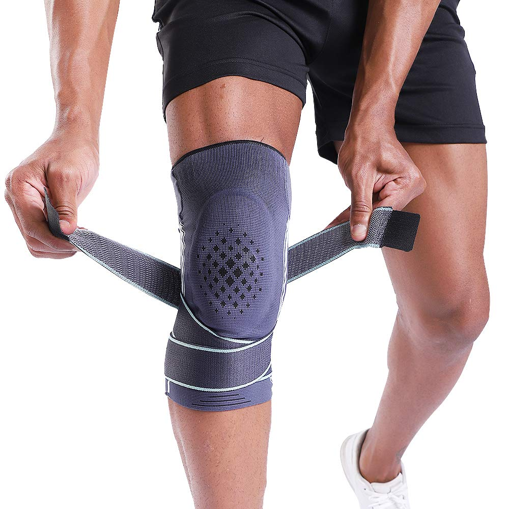 BERTER Knee Brace for Men Women Compression Sleeve Non-Slip Knee Support Stability Comfort for Running, Weightlifting, Baseball, Crossfit, Working Out by BERTER