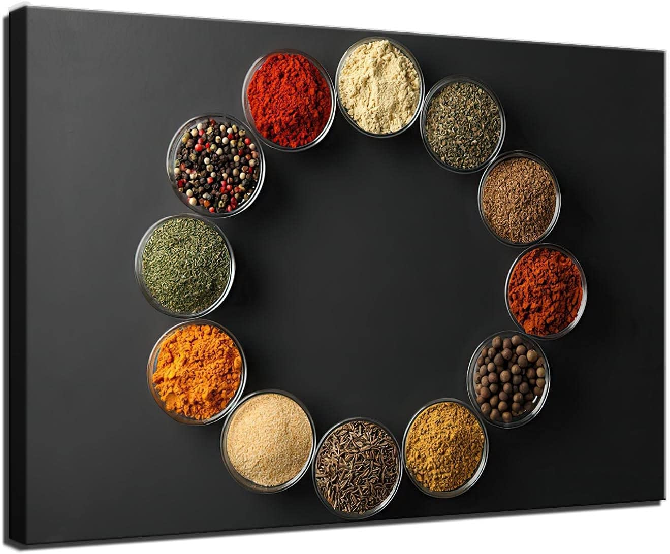 Kitchen Pictures Wall Decor Spice and Spoon Wall Art Painting Food The Picture Print on Canvas for Home Dining Room Decoration (20