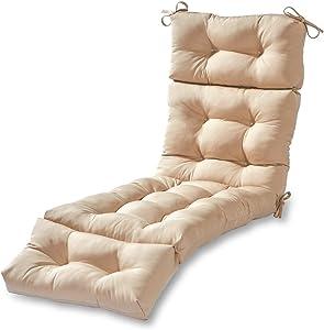 Greendale Home Fashions AZ4804-STONE Sanddollar 72 x 22-inch Outdoor Chaise Lounge Cushion