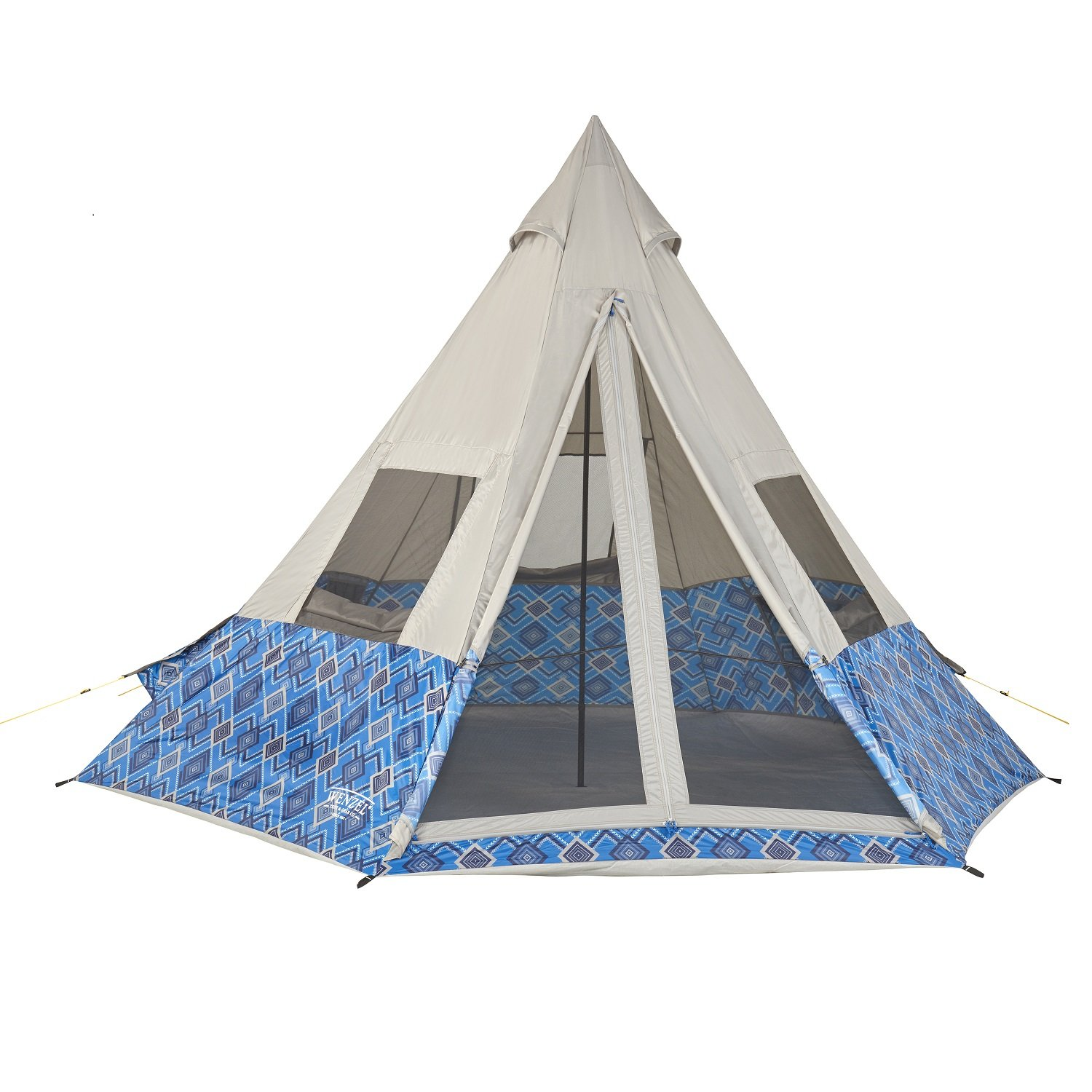 Wenzel 11 5 x 10 Foot Shenanigan 5 Person Teepee Camping Tent