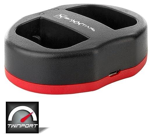 40 opinioni per Baxxtar USB Doppio Dual caricabatterie TWIN PORT 1823/2 per la batteria Canon