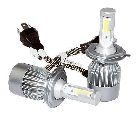 Kit 2 Bombillas LED H4 Faros Luces Delanteros 30W/6000k Blanco Frío 3 pines/