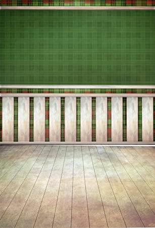 Wandplank 150 Cm.Green Wall Gray Column Indoor Backdrop Photography Digital Booth